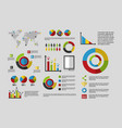 statistics data business vector image vector image