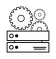 technology computer support cartoon vector image