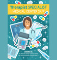 therapist doctor and medical diagnostic clinic vector image