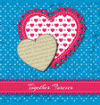 two colored valentine s hearts composition vector image