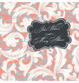 vintage styled wedding invitation vector image