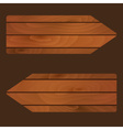 wooden banners signs boards with texture eps10 vector image