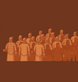 xian warriors ancient chinese terracotta army vector image vector image