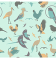 Birds seamless pattern flat style vector image
