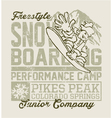 Snowboard Camp vector image