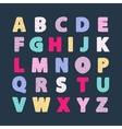 Alphabet creative abc vector image