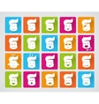 set of smiley icons vector image