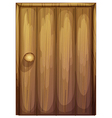 A wooden door vector image