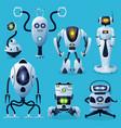 alien robots future droids characters vector image