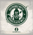 alternative eco bottle stamp vector image