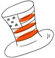 American hat vector image vector image