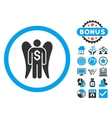 Angel Investor Flat Icon with Bonus vector image vector image