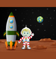 astronaut standing on planet vector image