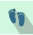 Baby footprints flat icon vector image vector image