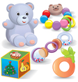 baby toys set vector image