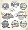 Bakery labels retro style set vector image vector image