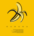 banana minimal simple flat design concept vector image