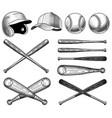 baseball equipment vector image