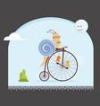 biker snail vector image vector image