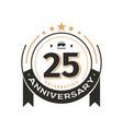 birthday vintage logo template to 25 th