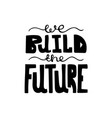 black-and-white hand-drawn modern lettering vector image