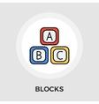 Blocks Flat Icon vector image vector image