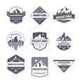 climbing sport - vintage set of logos vector image