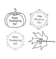 decorative design elements with pumpkins vector image