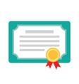 diploma certificate award icon vector image