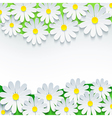 Floral background frame with 3d flower chamomile vector image vector image