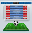 football match statistics vector image vector image