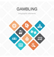 gambling infographic 10 option color design vector image