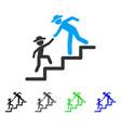 gentleman education steps flat icon vector image vector image