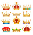 gold king crowns vector image vector image