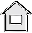 gray isolated home icon vector image vector image