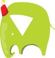 Green Elephant vector image vector image