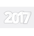 Happy 2017 new year paper vector image vector image