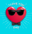 happy fathers day card vintage retro type font vector image vector image