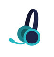 headset device icon vector image