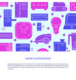 home automation poster template with place vector image