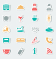 Hotel services icons Stickers Multicolored vector image vector image