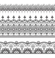indian mehndi henna three line lace elements vector image vector image