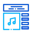 internet music play list icon outline vector image vector image