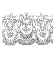 lace veil this is a portion of the border vintage vector image vector image