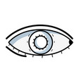 line heathy eye vision and optical care vector image