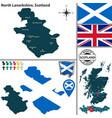 map north lanarkshire scotland vector image vector image