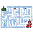 maze Santa Claus and New Year vector image vector image