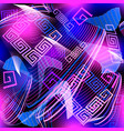 modern glowing geometric greek style seamless vector image