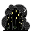 night city houses vector image vector image