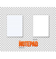 notepad set realistic empty notepad mockup vector image